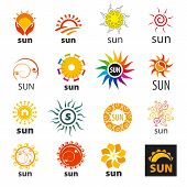 Big Set Of Vector Icons Sun