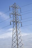 High Tension Line Electric Post