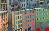 Brightly Colored Residential Buildings