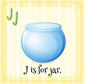 A letter J for jar