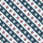 vintage seamless pattern with stars