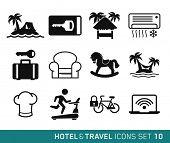 Hotel & Travel icons set // 10