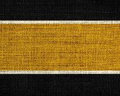 Desert and black burlap jute fabric textured background