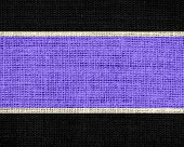 lavender and black burlap jute fabric textured background