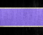 lavender rustic canvas banner textured with black wood background