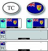 Turks And Caicos Islands Auto Set