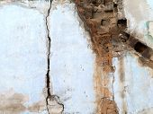 The Old Brick Wall Collapses And Urgent Repair Is Necessary