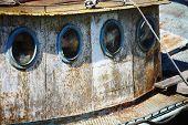 Portholes On An Old Ship