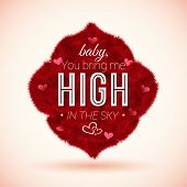 Fluffy icon for Your romantic design. Vector illustration.