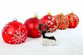 Reindeer And Christmas Balls
