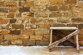 Construction Site For Repair, Winter, Table For Plastering And Molar Works On The Background Wall Of