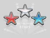 Vector red white and blue stars holiday | EPS10