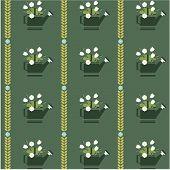 vector flat flower vintage patterns