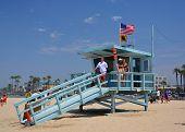 Babe Watch At The Life Guard Hut At Venice Beach