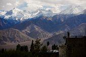 snow mountain range Leh Ladakh ,India