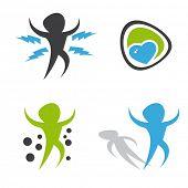 set of modern health illustrations