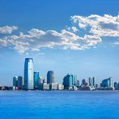 New Jersey skyline from Hudson River NJ NY USA