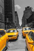 picture of cabs  - Times Square New York yellow cab taxi daylight US - JPG