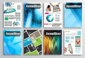 Set of Flyer Design, Web Templates. Brochure Designs, Technology Backgrounds. Mobile Technologies, Infographic  ans statistic Concepts and Applications covers.