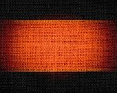 dark orange and dark brown burlap jute fabric textured background