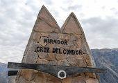 Mirador Cruz Del Condor Sign, Peru