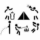 Set icons of camping rules