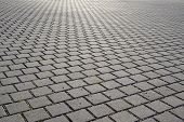 Square brick pavement