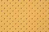 Beige Perforated Artificial Leather Background Texture