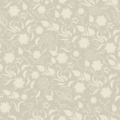 Seamless Floral Pattern Hand-drawn In Vintage Style