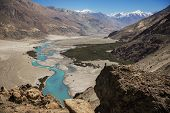 pic of jammu kashmir  - Shyok river in Nubra valley Ladakh  - JPG