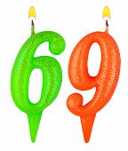 Birthday Candles Number Sixty Nine