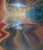 Alien Sky Reflected in Waters