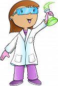 Scientist Doctor Vector Illustration Art