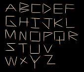 Matches Alphabet Font