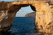 Azure Window, Famous Stone Arch Of Gozo