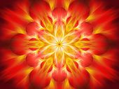 stock photo of fiery  - Fiery chakra flame computer generated abstract background - JPG