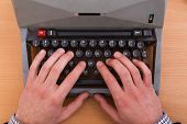 Working At The Typewriter.