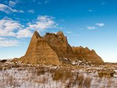 A Peak Rises In The Badlands
