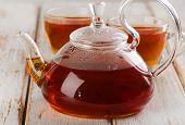 Hot  Tea On  Wooden Table
