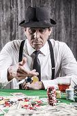 Playing Poker.