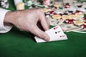 picture of poker hand  - Close - JPG