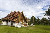 beautiful temple in city of pai, northern thailand