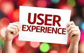 picture of experiments  - User Experience card with colorful background with defocused lights - JPG
