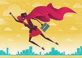 Businesswoman Is A Superhero.