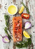 Portion Of Fresh Salmon Fillet