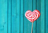 Heart Shaped Lollipop For Valentine's Day