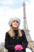 Eiffel Tower tourist in Paris, France