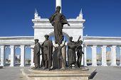 Kazakh Eli monument in Astana, Kazakhstan.