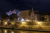 Tiber River Embankment, Rome