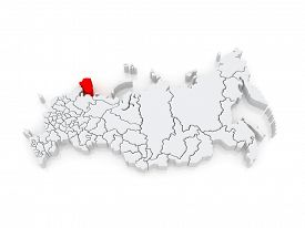 foto of murmansk  - Map of the Russian Federation - JPG